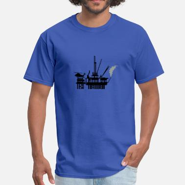 Oil Rig offshore oil rig (2c) - Men's T-Shirt