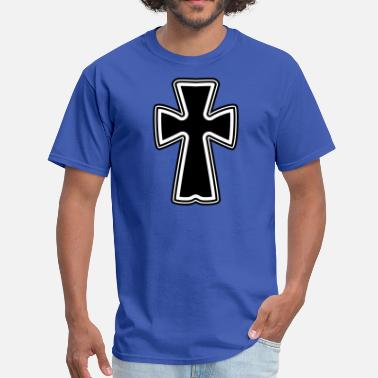 Gothic cool black gothic celtic cross - Men's T-Shirt