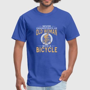 Old Man Bicycle funny An Old Woman With A Bicycle - Men's T-Shirt