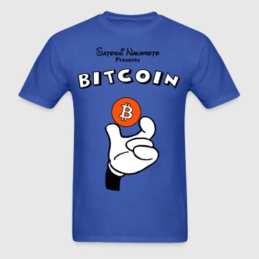 Bitcoin T Shirt Hand Holding Coin - Men's T-Shirt