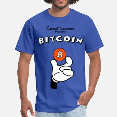 Bitcoin Bitcoin T Shirt Hand Holding Coin - Men's T-Shirt