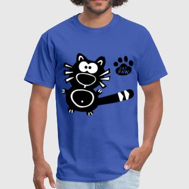 Hipster Kitten Catpaw Design Cat Cats Kitten Kitty Fun Hipster  - Men's T-Shirt