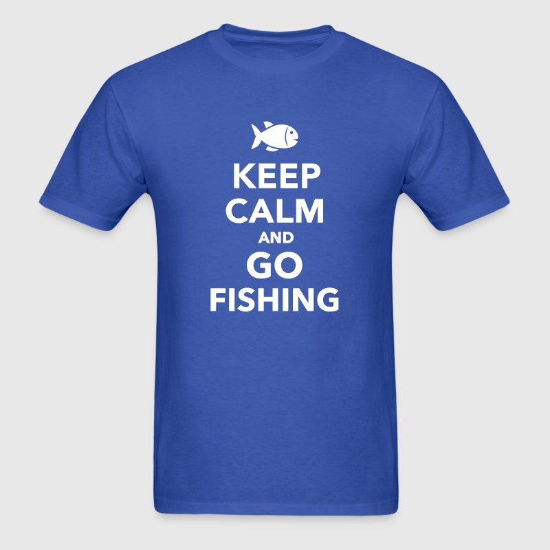 Keep calm and go fishing - Men's T-Shirt
