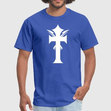 Straight Gothic cross awesome - Men's T-Shirt