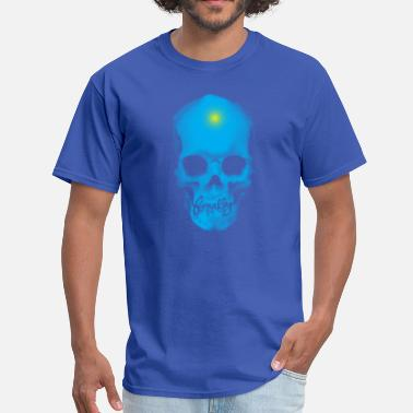 Final Fantasy Art Finally Skull Cyan - Men's T-Shirt