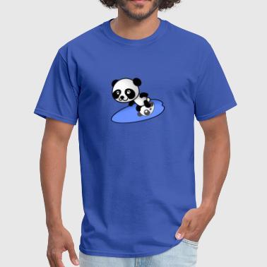 Surfer Panda - Men's T-Shirt