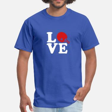 Funny Table Tennis Ping Pong love - Men's T-Shirt