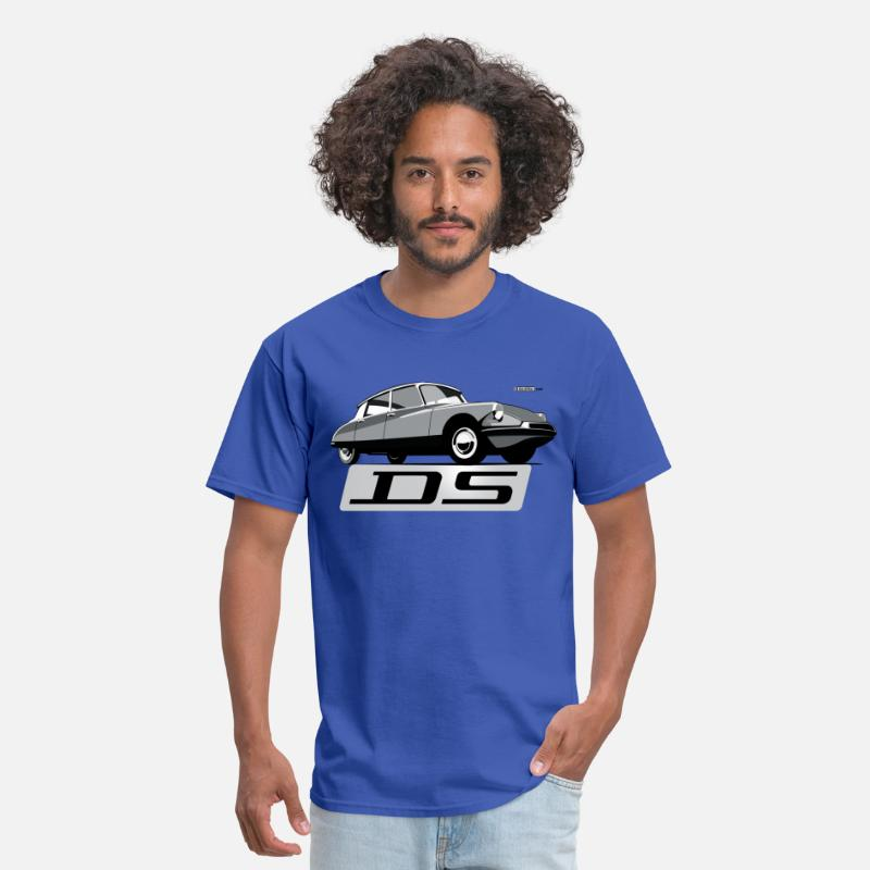 France T-Shirts - Citroën DS script emblem and illustration - Men's T-Shirt royal blue
