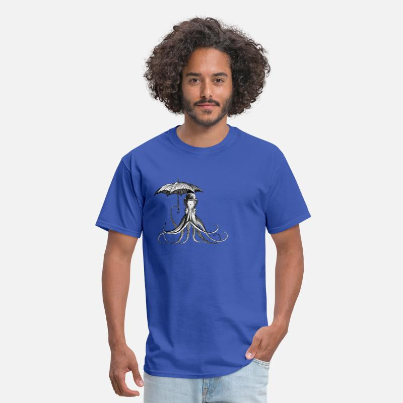 Hat T-Shirts - Squid with umbrella - Men's T-Shirt royal blue