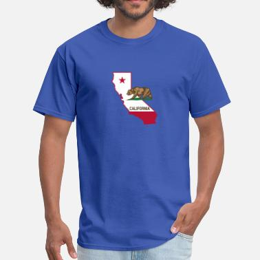 Flags Silhouette California Silhouette and Flag - Men's T-Shirt