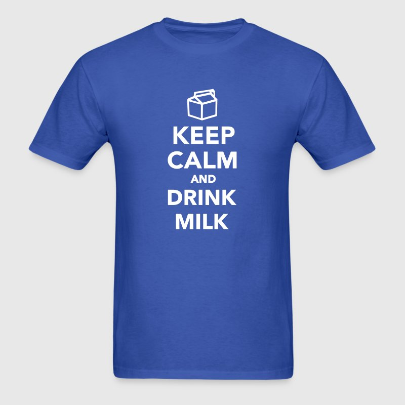 Keep calm and drink Milk - Men's T-Shirt