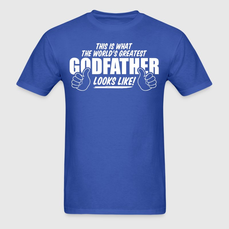 Worlds Greatest Godfather Looks Like - Men's T-Shirt