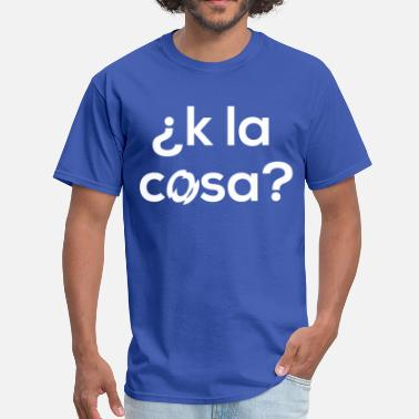 Paisa k la cosa.WHITE.png - Men's T-Shirt