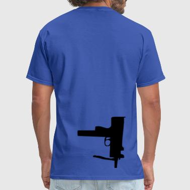 Gun Stencil gun - Men's T-Shirt