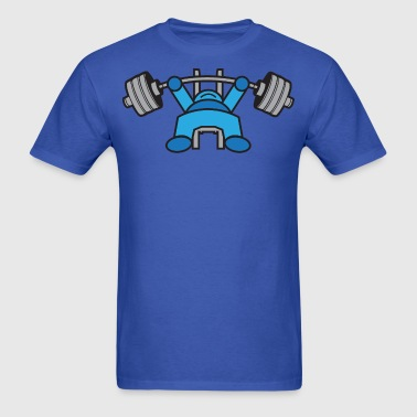 Kawaii Bench Press - Blue - Men's T-Shirt