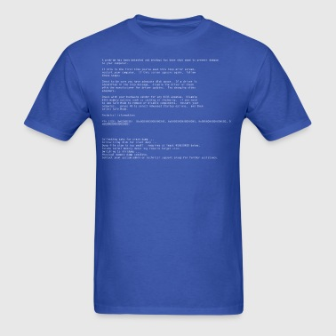 Blue Screen of Death - Men's T-Shirt