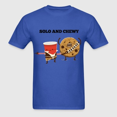 Funny star wars han solo and chewbacca - Men's T-Shirt
