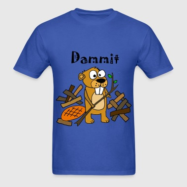 Funny Beaver and Dam - Men's T-Shirt