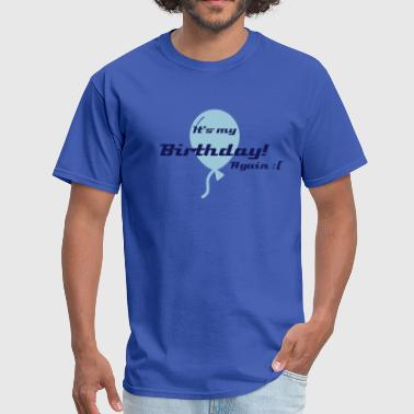 Holding Balloon - Men's T-Shirt