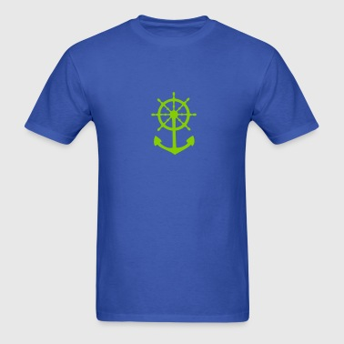 Steering Wheel and Anchor - Men's T-Shirt