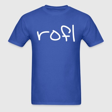 Rofl - Rolling on the floor laughing - Men's T-Shirt