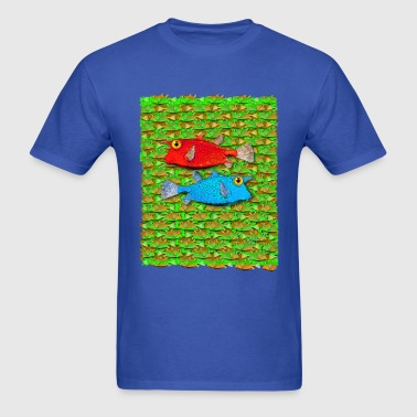 red fish blue fish many fish - Men's T-Shirt