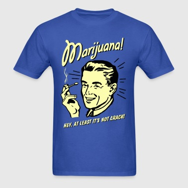 Funny vintage marijuana joke - Men's T-Shirt