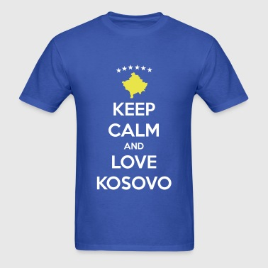 KEEP CALM AND LOVE KOSOVO - Men's T-Shirt