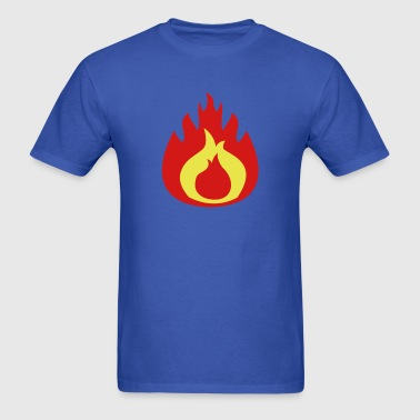 fat flame FLAMES hot - Men's T-Shirt