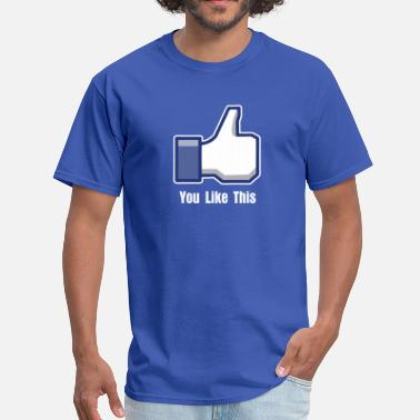 Facebook Like Thumb Up like facebook - Men's T-Shirt