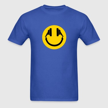 Smiley headphones - Men's T-Shirt
