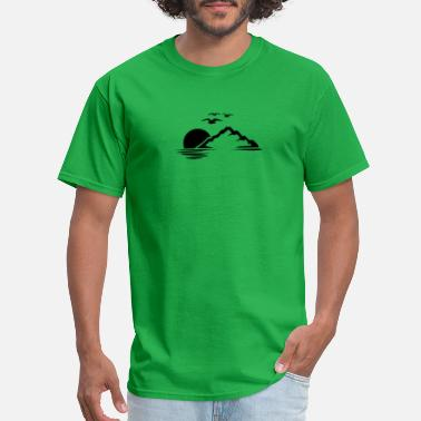 Mountains And Sun Sun Nature Mountain - Men's T-Shirt
