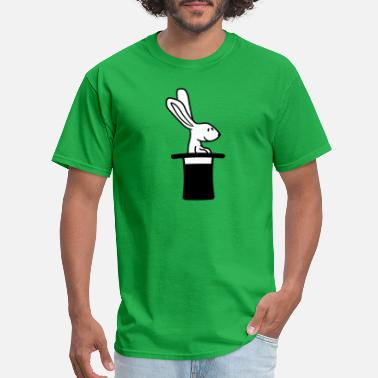 Hut cylinder hat magic trick wizard magical bunny rabb - Men's T-Shirt