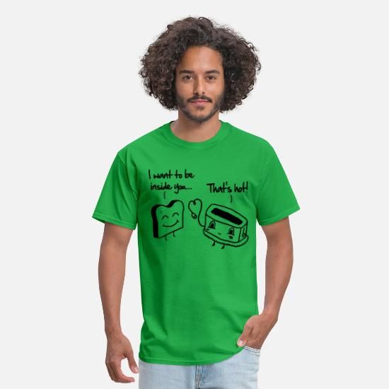 Couples T-Shirts - Toast & Toasty - Men's T-Shirt bright green