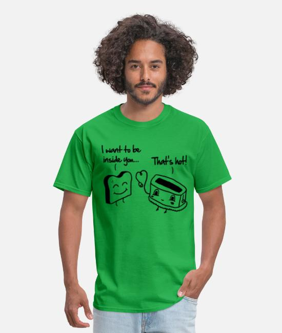 Boyfriend Funny T-Shirts - Toast & Toasty - Men's T-Shirt bright green