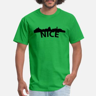 France Skyline Arc Skyline Of Nice France - Men's T-Shirt