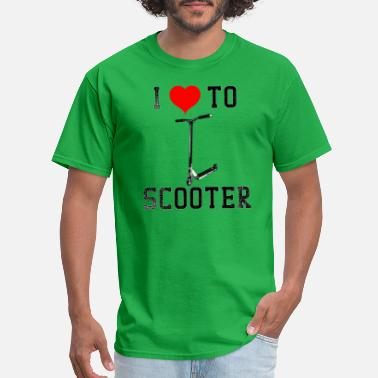 Love Scooter Giraffe Scooters I Love To Scooter - Men's T-Shirt