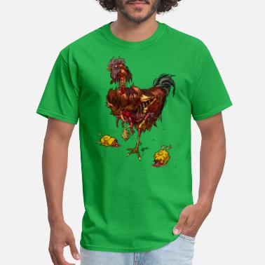 Rooster Rooster zombie - Men's T-Shirt
