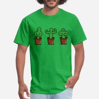 Cactus cactus bodybuilder - Men's T-Shirt