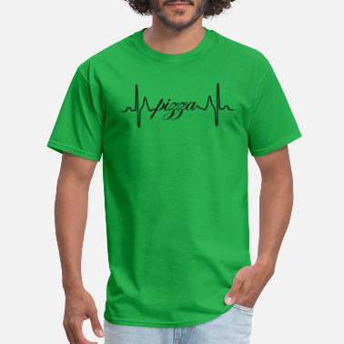 Heartbeat Ecg Pizza ECG heartbeat - Men's T-Shirt