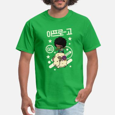 Korean Funny Enjoy Riding 04 - Sheep - Men's T-Shirt