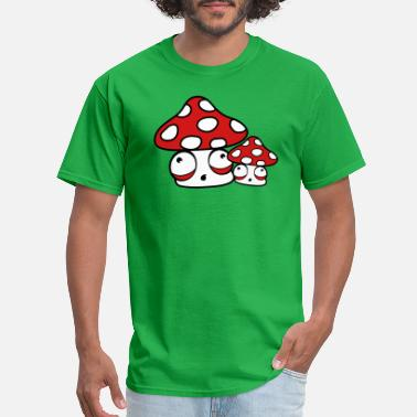 Family Feet mom dad child baby family fly agaric red dots smal - Men's T-Shirt