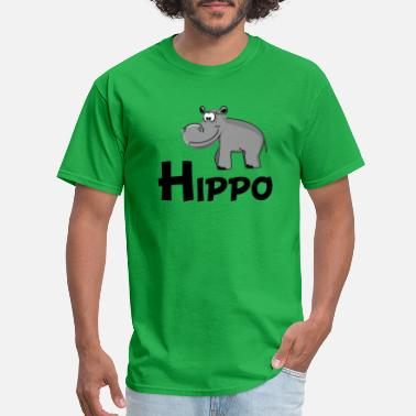 Hippo Cartoon Cartoon Hippo - Men's T-Shirt