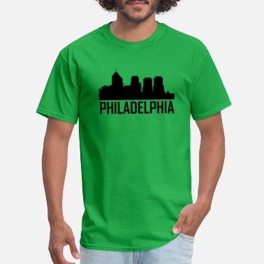 Philadelphia Skyline Silhouette Philadelphia Pennsylvania City Skyline - Men's T-Shirt