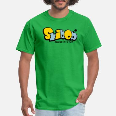 Seat skibob or Snowbike fun - Men's T-Shirt
