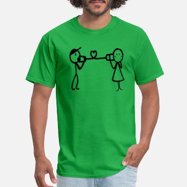 Stickman Quotes Love Cute Stickman Funny - Men's T-Shirt