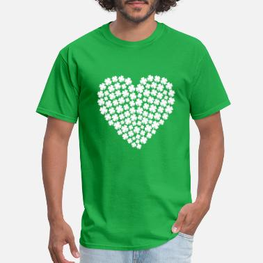 Heritage Love, Heart, Irish St. Patrick's Day, Clover Luck - Men's T-Shirt
