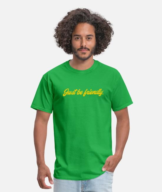 Yellow T-Shirts - Just Be Friendly - Men's T-Shirt bright green