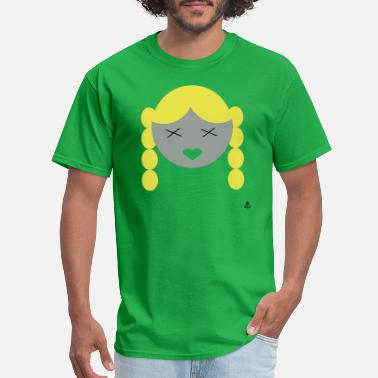 Braid Girl with Braids - Men's T-Shirt