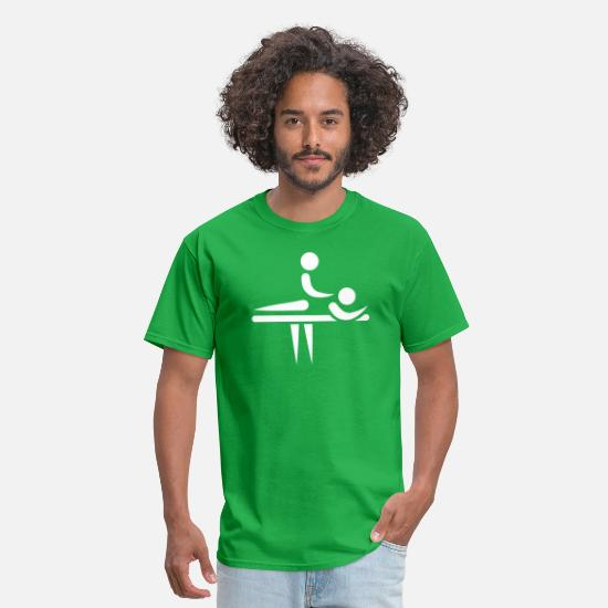 Physiotherapist T-Shirts - Physiotherapist - Men's T-Shirt bright green